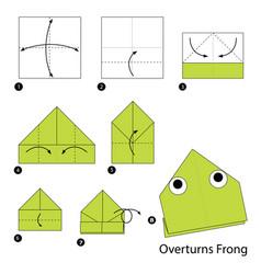 Make origami a overturns frog vector