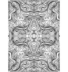 manala flower abstract elegant coloring page with vector image