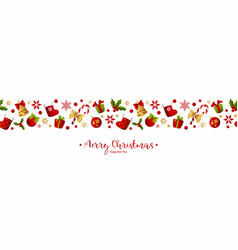 merry christmas decoration for holiday vector image