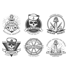 Old Tattoo Anchor Set vector image