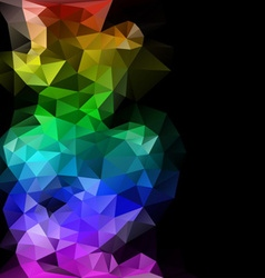 polygonal abstract composition vector image