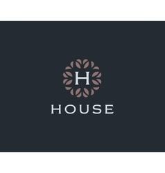 Premium monogram letter h initials logo universal vector