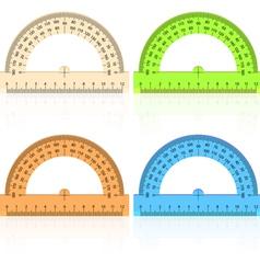 protractor ruler vector image