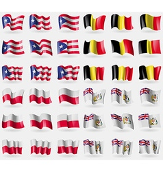 Puerto Rico Belgium Poland British Antarctic vector