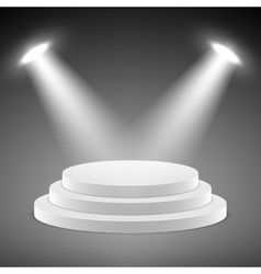 Realistic pedestal 3d empty podium with vector image vector image
