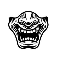 samurai half mask in vector image