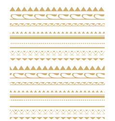 Seamless pattern in style tribe vector