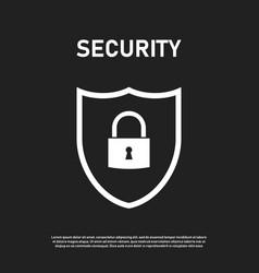 Security or sheild icon symbol safety internet vector