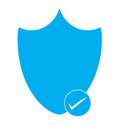 security shield icon on white background vector image