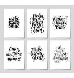 Set of 6 hand written lettering positive vector