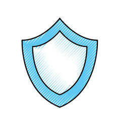 shield protection secure system technology icon vector image