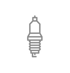 Simple car candle spark plug line icon symbol vector