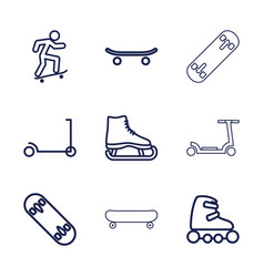 Skate icons vector