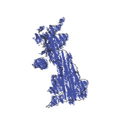 sketch of a map of the united kingdom vector image