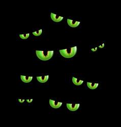 Spooky eyes halloween background vector