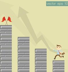 Success businessman vector image