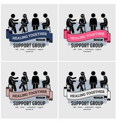support group centre logo design artwork of vector image