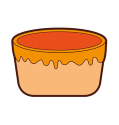 Sweet baked cake cartoon vector