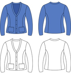 Template outline blank woman jacket vector image