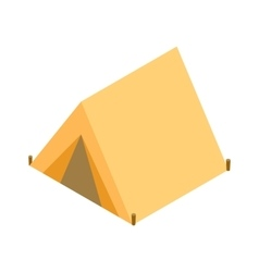 Tent isometric 3d icon vector image