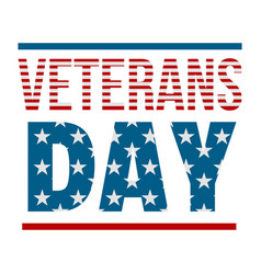 text veterans day logo flat style vector image