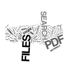 The easy way to search pdf files text background vector
