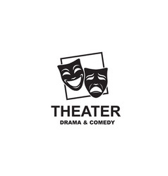 theatrical masks icon vector image