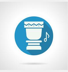 Tropical drum rhythm flat round icon vector