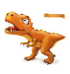 Tyrannosaurus t rex dinosaur cartoon character vector