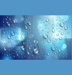 water rain drops or condensation over blurred vector image