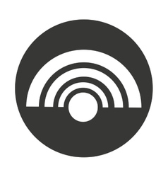 wifi waves isolated icon vector image
