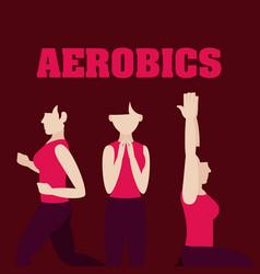 Woman and aerobics vector
