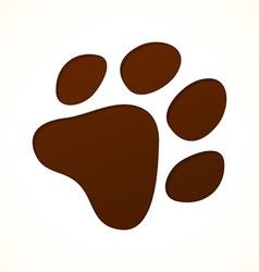 brown footprint vector image vector image