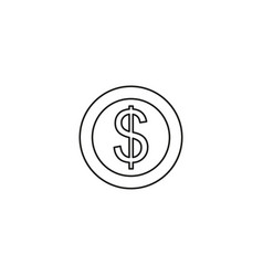 currency signs money exchange pound coins mono vector image