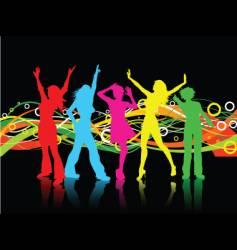 female dancers vector image vector image