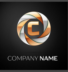 letter c logo symbol in the colorful circle on vector image vector image
