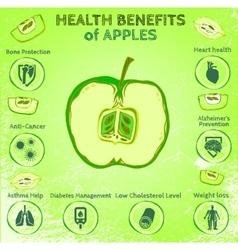 Apple health benefits vector