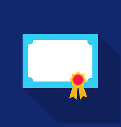diploma icon flat single education icon from the vector image