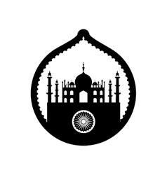 taj mahal palace india design vector image