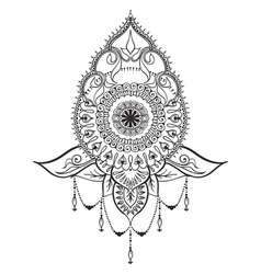 Tattoo template in mehndi style vector image