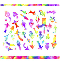 watercolor arrow icons se vector image vector image