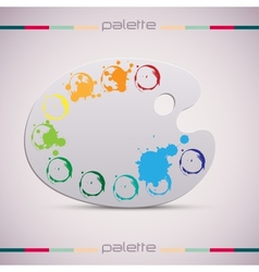 Wooden art palette Color vector image