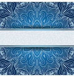 Blue invitation card with place for your text vector image vector image