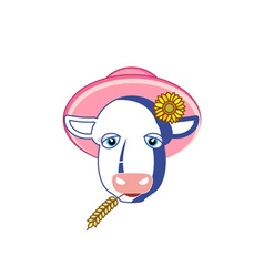 Cow-380x400 vector image