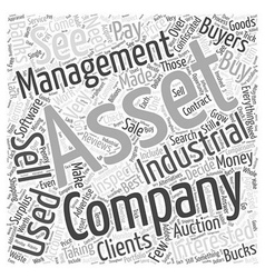 Industrial Asset Management Word Cloud Concept vector image vector image