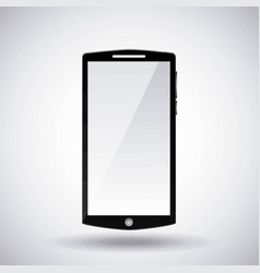 mobile phone gadget technology touch screen vector image