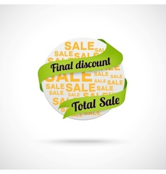 Modern sale badge vector image vector image