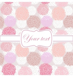 Pink card invitation with peony flowers vector image vector image