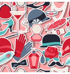 Retro of 1920s style seamless pattern vector image vector image