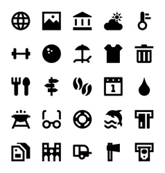 Tourism and Travel Icons 4 vector image